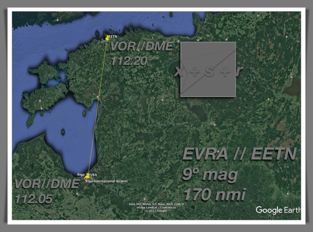 Riga departure map