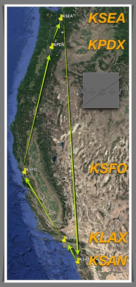 Cal flight map