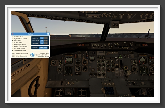 732 FMS option panel