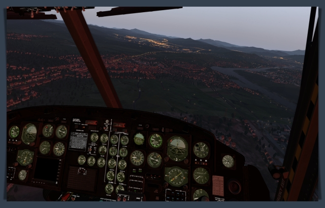 aa LEBB approaching from north