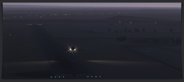 OPGD 733 TO dark runway