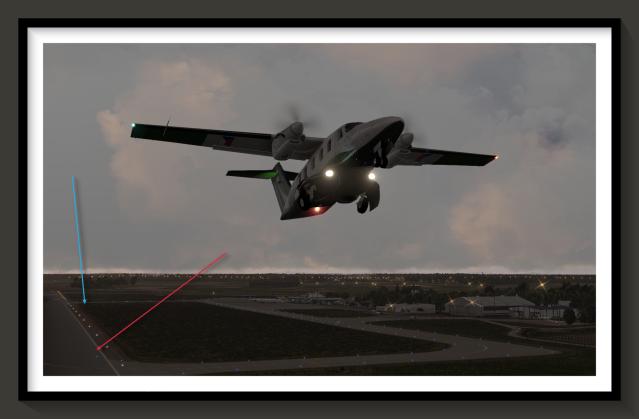 ev55 takeoff roll