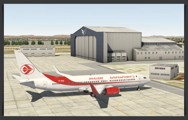 LCLK Air Algerie hanger