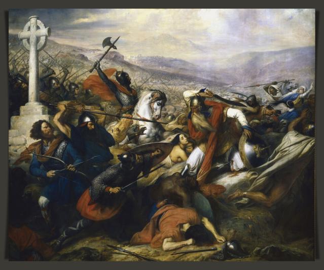 Tours Battle Steuben_-_Bataille_de_Poitiers